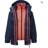 Hi Gear Trent II Kids 3-in-1 Jacket - Size: 9-10 - Colour: NVY-HOT CORAL