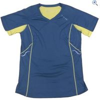 Ronhill Aspiration S/S Womens Running Top - Size: 16 - Colour: PEBBLE-LEMON