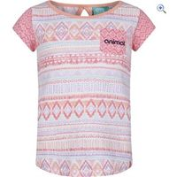 Animal Girls Pattern Block T-Shirt (7-12) - Size: 7-8 - Colour: SUGARY PINK