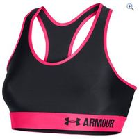 Under Armour Womens Armour Mid Sports Bra - Size: L - Colour: GREY RED GREY