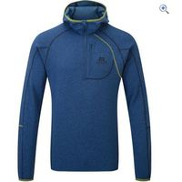 Mountain Equipment Integrity Hooded Zip Tee - Size: M - Colour: Blue