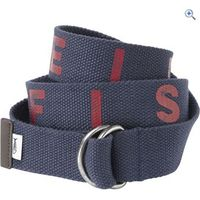 Weird Fish Titan Fabric Webbing Belt - Size: S-M - Colour: Dark Blue