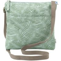 Weird Fish Dorothea Patterned Canvas Cross Body Bag - Colour: PEAPOD