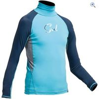 Gul Junior Girls Long Sleeve Rashguard - Size: M - Colour: TURQUOISE-NAVY