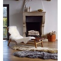 UGG Sheepskin Area Rug Double Home Furnishings Grey