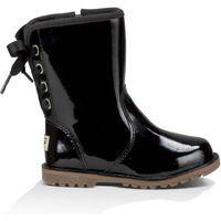 UGG Corene Patent Kids Boots Black 6