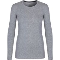 Cuddl Duds Long sleeve crew neck top, Grey