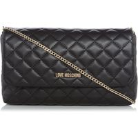 Love Moschino Superquilt black clutch, Black