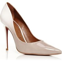 Moda in Pelle Cristina heel court shoes, Beige