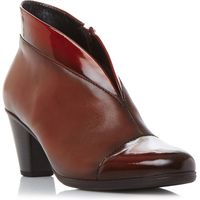Gabor Enfield asymmetric leather ankle boots, Red