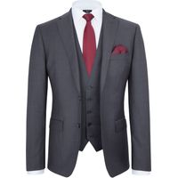 Mens Paul Costelloe Richmond Wool Tonic Suit Jacket, Grey