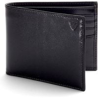 Aspinal of London Men`s billfold wallet, Black