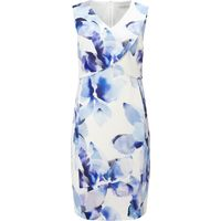Jacques Vert Petite Abstract Floral Dress, Multi-Coloured