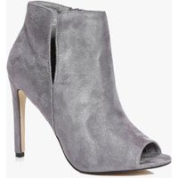Cut Work PeepToe Shoe Boot - grey