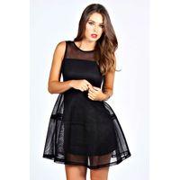 Lantern Net Dress - black