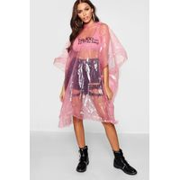 Showerproof Festival Poncho Non Refundable - pink