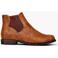 Pull On Elastic Gusset Chelsea Boot - tan