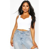 Cut Out Bralet - white