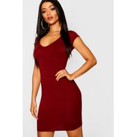 Sweetheart Bodycon Dress - berry