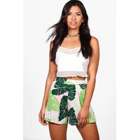 Palm Print Flippy Shorts - multi
