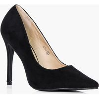 Pointed Toe Court Heels - black