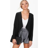 Shawl Collar Ponte Blazer - black