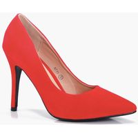 Pointed Court Heels - red