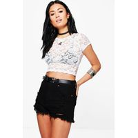 Lace Crop Top - ivory