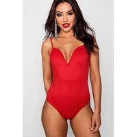 Plunge Strap Body - red