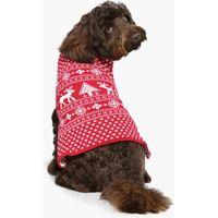 Fairisle Christmas Dog Jumper - red