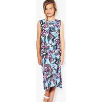 Tropical Print Maxi Dress - multi