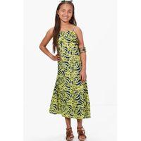 Palm Print Maxi Dress - multi