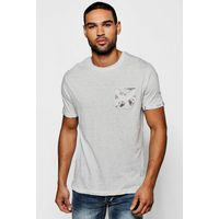 Print T shirt - ecru
