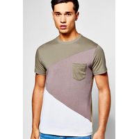 Colour Block T-Shirt - grey
