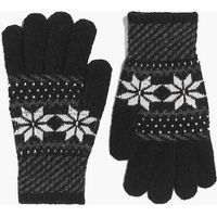 Fairisle Gloves - black