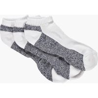 Pack Contrast Panel Trainer Socks - white