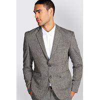 Fit Tweed Blazer - grey