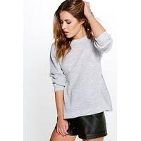 Becca Side Split Tunic Jumper - grey