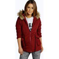 Jenny Parka Coat - burgundy