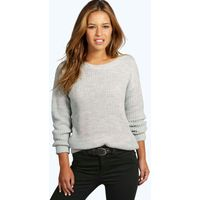 Ivy Oversized Jumper - silver