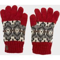 Kusan Mens Finger Gloves, Red