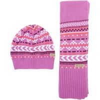 Columbia Womens Winter Worn Hat and Scarf Set, Pink