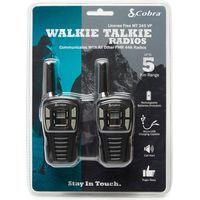 Pama Cobra MT245 Walkie Talkie Twin Pack, Black