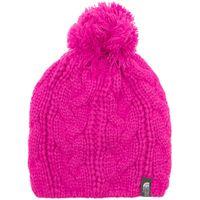 The North Face Womens Bigsby Pom-Pom Beanie, Pink
