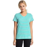 Peter Storm Womens Angel Stripe Tee, Green