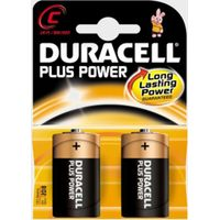 Duracell Plus Power MN1400 C Batteries 2 Pack, Assorted