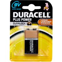 Duracell Plus Power MN1604 9V Battery, Assorted