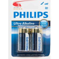 Phillips Ultra Alkaline C LR14 1.5V Batteries 2 Pack, Assorted