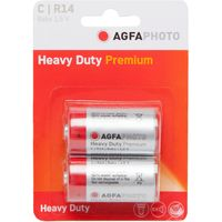 Agfa Zinc Chloride Heavy Duty C R14 1.5V Batteries, Assorted