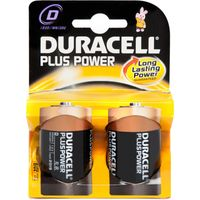 Duracell Plus Power D2 Batteries 2 Pack, Assorted